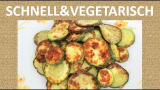Knusprige Zucchini Scheiben, vegetarisch
