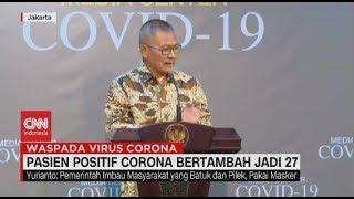 Terus Bertambah, Total 27 Pasien Positif Corona di Indonesia