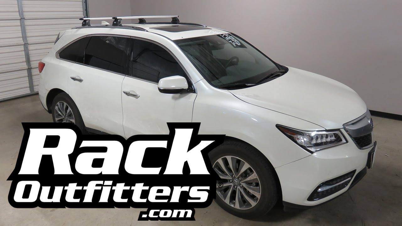 Acura Mdx With Thule 460r Rapid Podium Aeroblade Roof Rack Cross Bars