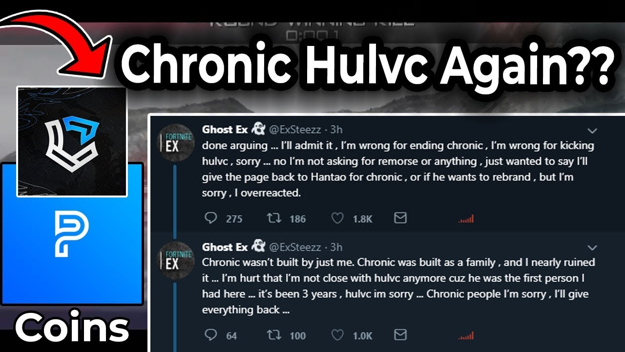 Ghost Ex Says SORRY - Hulvc Joins Back Chronic ? Coins LEAVES Parallel