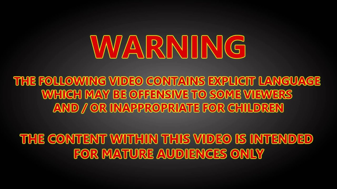 Content Warning Explicit Language 4k 60fps Render