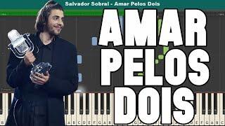 Amar Pelos Dois Piano Tutorial - Free Sheet Music (Salvador Sobral)