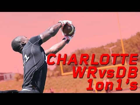 Charlotte WR vs DB 1 on 1