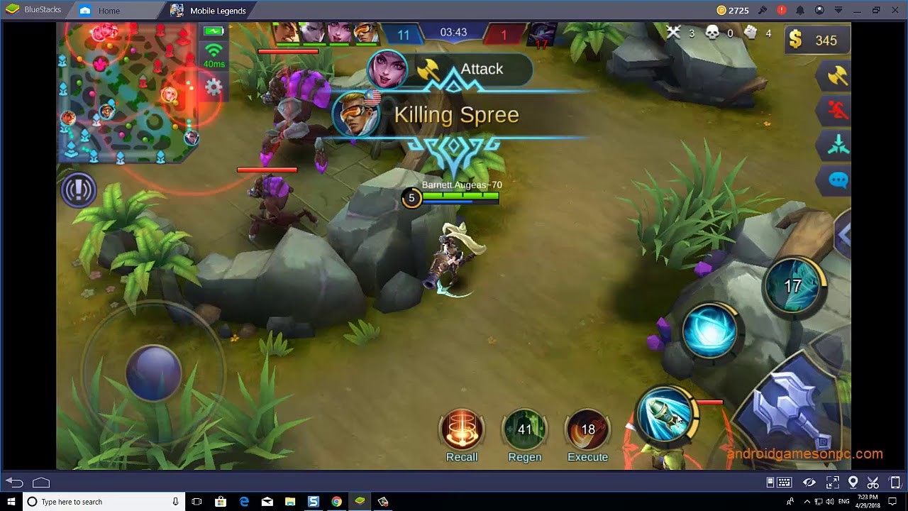 how to play mobile legends: bang bang on pc keyboard mouse