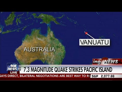 Earthquake : Powerful 7.3 Earthquake strikes the Pacific Islands of Vanuatu (Apr 28, 2016)