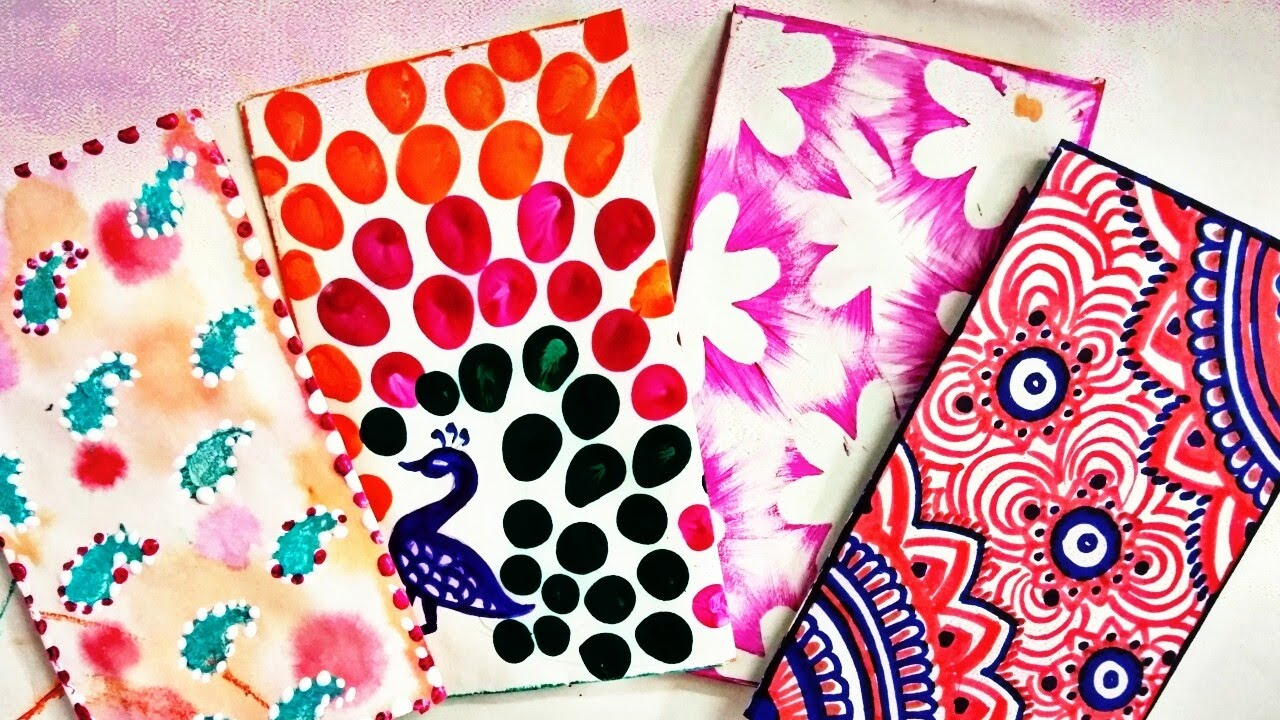 four different types of envelope designs