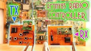 ATtiny85 simplest radio controller - 4 digital channels Mp3