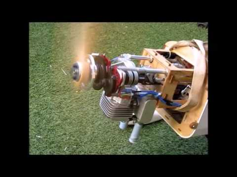 DLE 35RA 35cc gas engine with EME35 Electric Starter with Brushless Motor