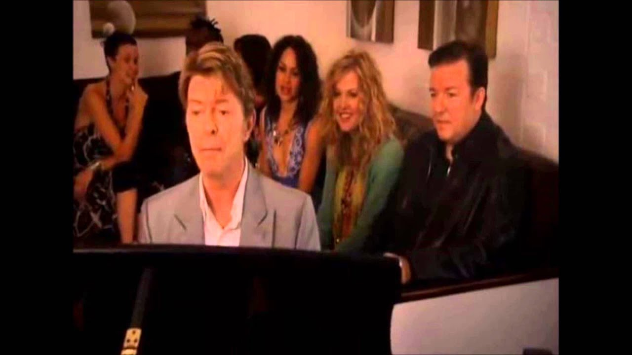 david bowie and ricky gervais quotchubby little loserquot from