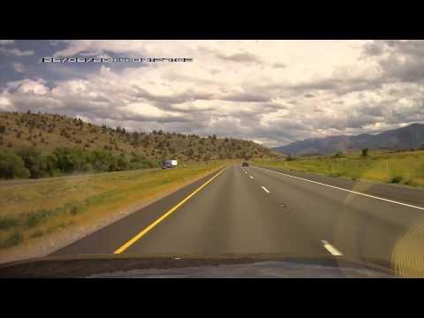 Medford, Oregon to Sacramento, California trip timelapse