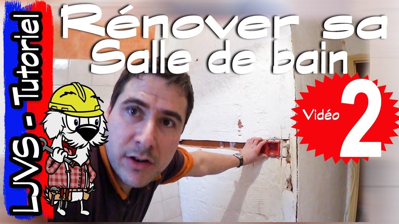 Comment renover une salle de bain partie 2 tutoriel ljvs youtube - Renover une salle de bain carrelee ...