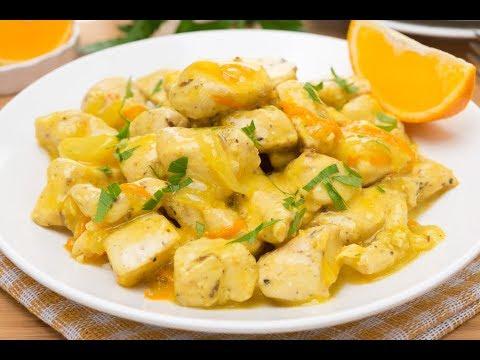 Куриное филе в апельсиновом соусе / Chicken fillet in orange sauce. Вкусное меню.#9