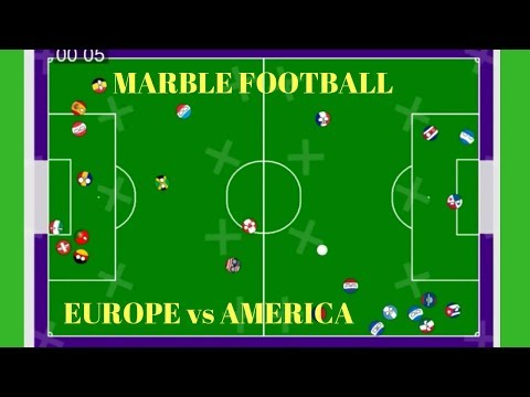*MARBLE FOOTBALL* COUNTYBALLS (Semi Final) | West Europe vs North America  Soccer