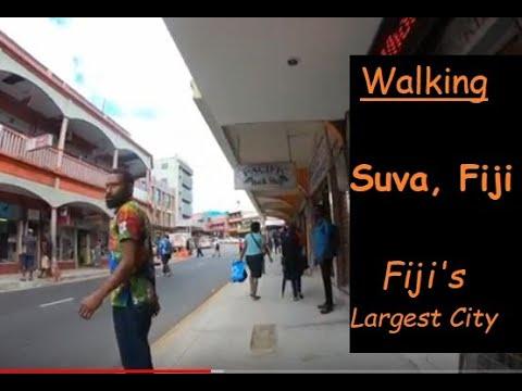 Walking the Streets of Suva, Fiji - Fiji's Largest City  (w/GoPro7 Camera)