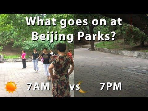 What Beijingers do at 7AM vs 7PM - Ritan Park, Beijing, China