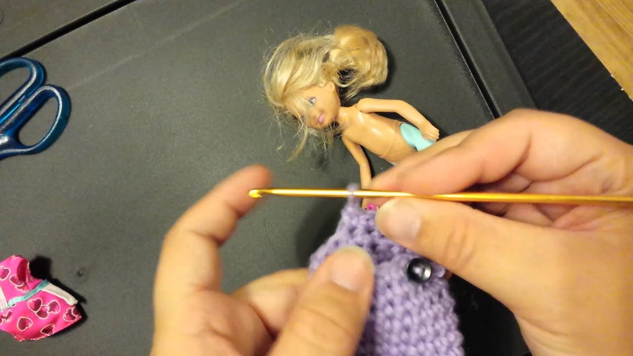 How to Crochet a Mermaid tail for a Barbie Doll Part 2 - YouTube