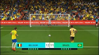 BELGIUM vs BRAZIL | Penalty Shootout | PES 2018 Gameplay PC
