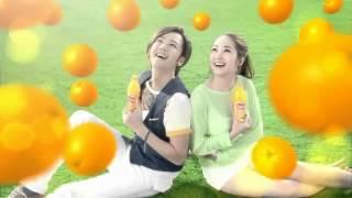 チャン・グンソクとパク・ミニョン 中国の統一果汁(統一多果汁)CM.