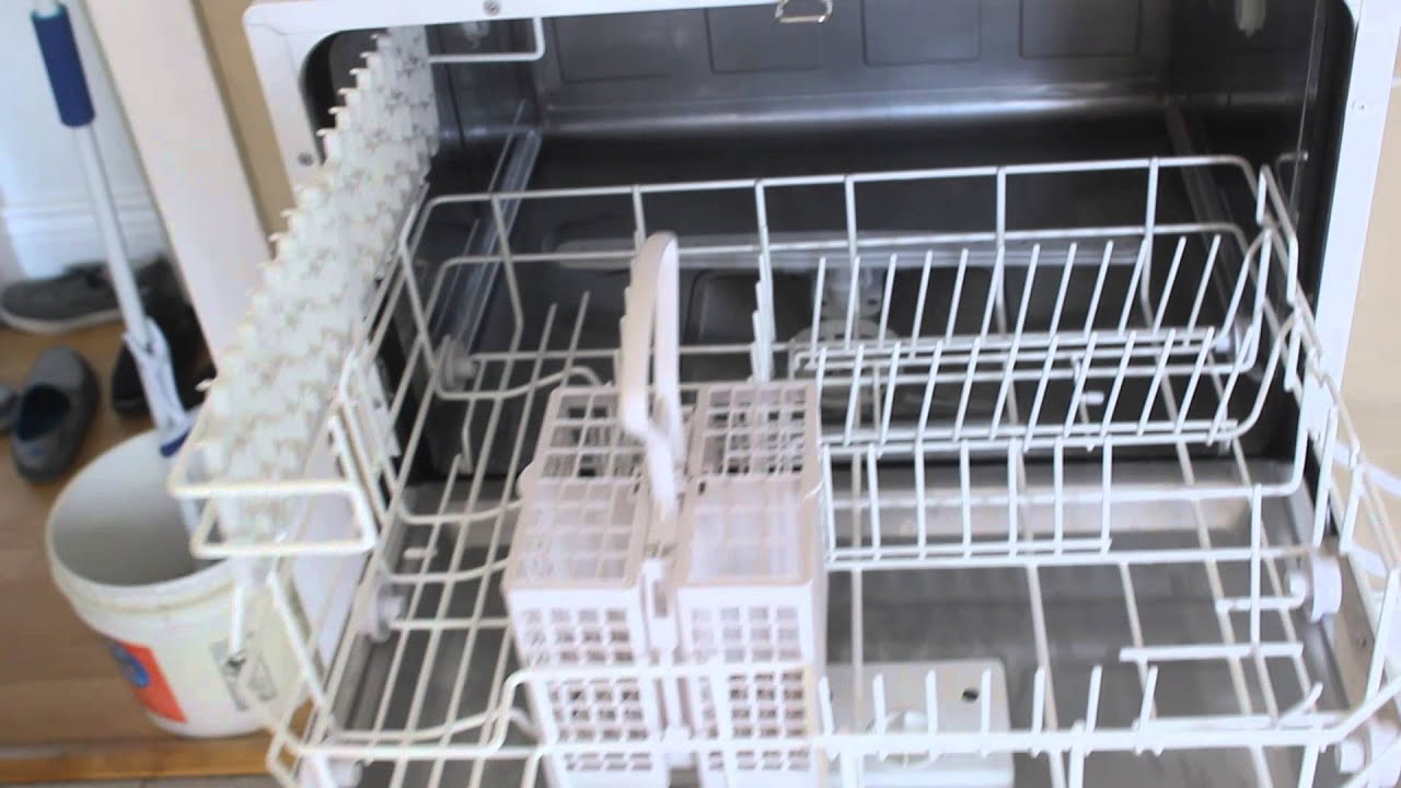 Mini Dishwashers Spt Countertop Dishwasher Review Youtube