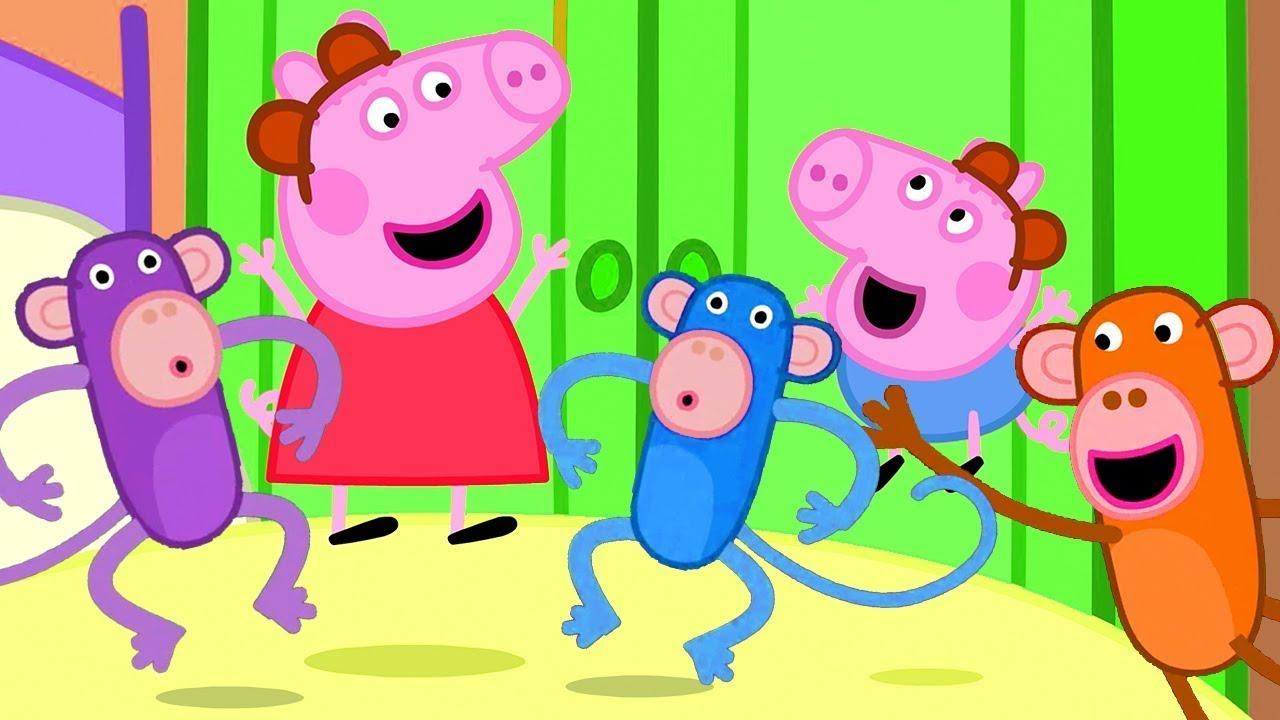 Five little Monkeys Jumping on the Bed   Nursery Rhymes & Kids Songs