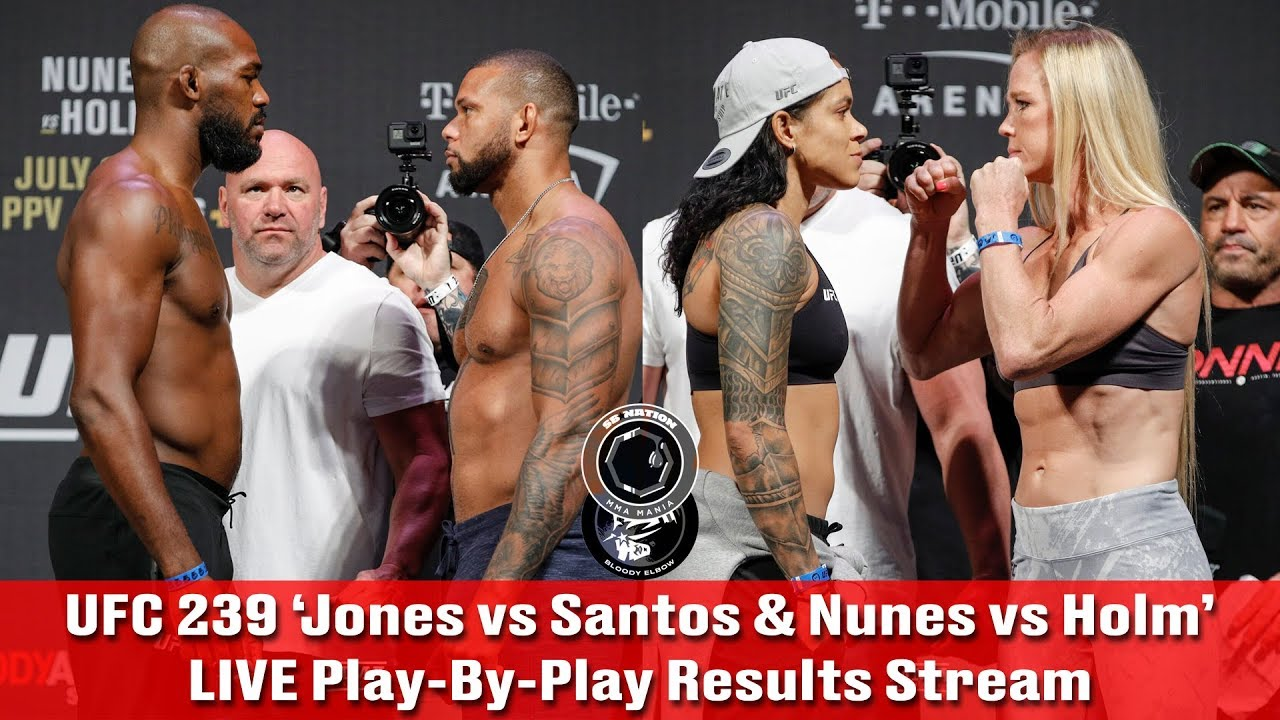 UFC 239 results -- Jon Jones vs. Thiago Santos: Live updates, fight card, prelims, highlights