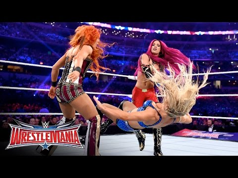 Becky Lynch vs. Sasha Banks vs. Charlotte - WWE Women's Title Match: WrestleMania 32 on WWE Network