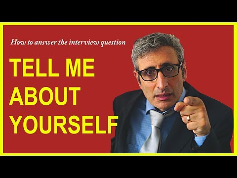 How to answer TELL ME ABOUT YOURSELF interview question