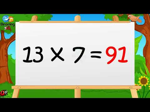 Learn Multiplication Table of Thirteen13 x 1 = 13 - 13 Times