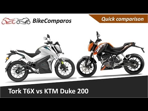 Tork T6X vs KTM Duke 200 Comparison Review