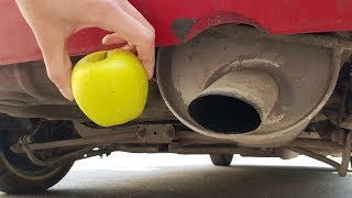 EXPERIMENT: APPLE vs CAR EXHAUST PIPE