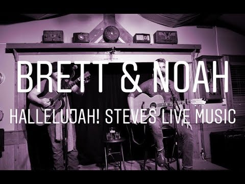 Brett Young and Noah Needleman performing 'Hallelujah' acoustic