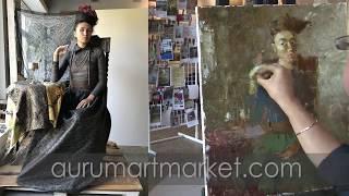 Видео урок живописи - Разговор с птицей