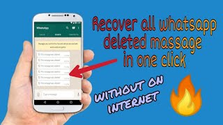 How To Recover whatsapp deleted Messages ? ||Read Deleted WhatsApp Messages with this Simple Trick