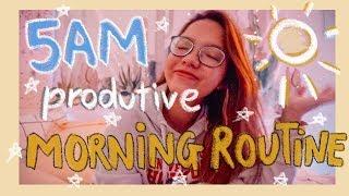 🌞 DẬY SỚM 5 GIỜ SÁNG CÙNG TRÂN NHA 🌻 My 5AM Productive Morning Routine ✨🌿 | Diane Le
