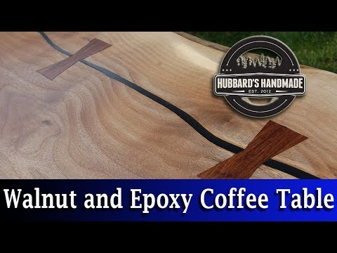 Black Walnut // Black Epoxy // Coffee Table // How to