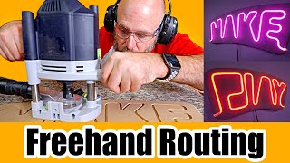 How to make nęon signs with & WITHOUT a router. Easy woodworking project!