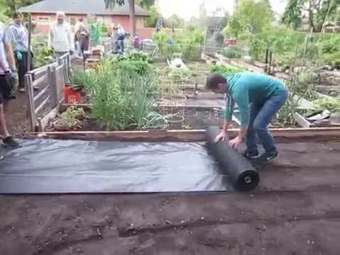 Laying the Landscape Fabric