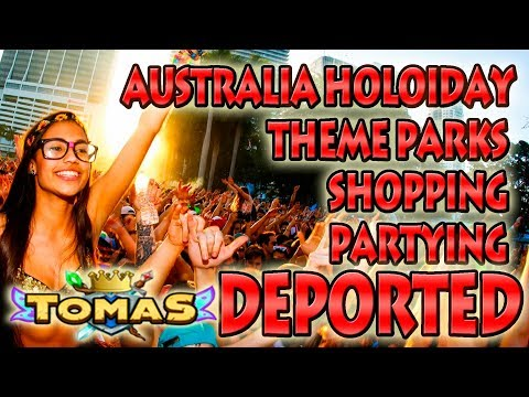 GOING TO AUSTRALIA - PARTIES - THEME PARKS - SHOPPING AND MORE -  VLOG #1 TOMASEVERWING