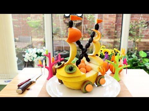 DIY Fruit Art   Melon Boat   Fruit & Vegetable Carving Garnish
