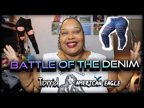 TORRID BOMBSHELL SKINNY JEANS V.S AMERICAN EAGLE : Torrid Haul + Battle Of The Denim