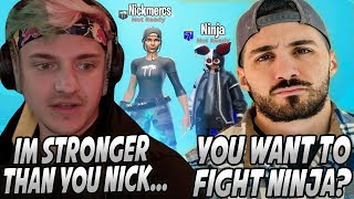 Ninja Gets NickMercs TRIGGERED After Saying That He's STRONGER Than Him! Nick Tried To FIGHT Ninja!