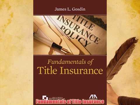 Download Fundamentals of Title Insurance PDF eBook