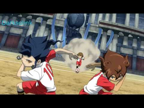 Inazuma Eleven Go Vs Danball Senki W Spark Edge Dribble+ Fire Tornado TC Vs Destiny Cloud