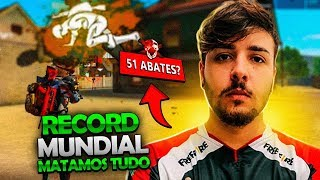 RECORD MUNDIAL EM TRIO NO FREE FIRE? FT LOS GRANDES