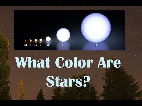 What Color Are The Stars And How Hot Are They?