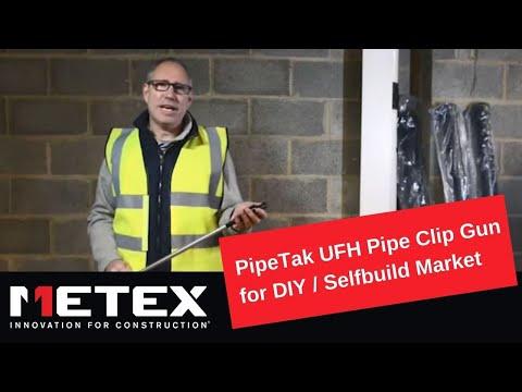 Pipetak UFH Pipe Clip Gun for DIY / Selfbuild Market