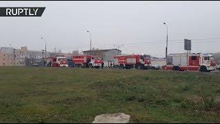 На северо-западе Москвы загорелся склад с газовым оборудованием