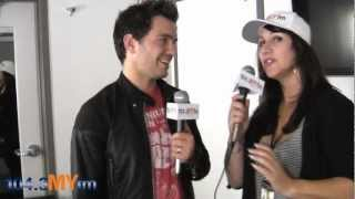 Lisa Foxx Backstage With Andy Grammer