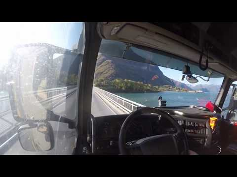 Trucking from Åndalsnes to Ålesund E136, Norway