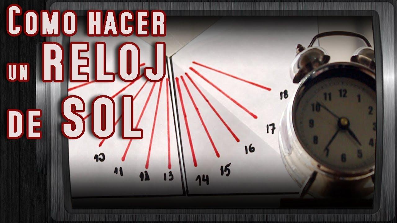 Como hacer un reloj de sol solo con papel youtube - Como hacer un reloj de pared ...